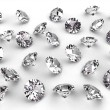 Стоковое фото: Several diamonds with soft shadows