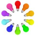 Lightbulbs kaleidoscope — Stock Photo