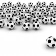 Soccer balls on white — Stock Photo