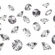 Stock Photo: Several diamonds