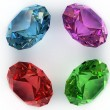 Stock Photo: Multi-coloured gemstones