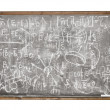 Equations on the old style blackboard — Stock Photo