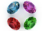 Multi-coloured gemstones — Stock Photo