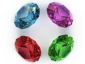 Multi-coloured gemstones — Stock Photo