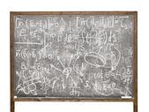 Ecuaciones en la pizarra de estilo antiguo — Foto de Stock