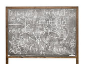 Equations on the old style blackboard — Stok fotoğraf