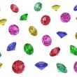 Several multi-coloured gemstones — Foto de Stock