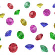 Several multi-coloured gemstones — Stock Photo #2465577