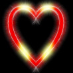 Shining symbol in the shape of heart — Stock Photo