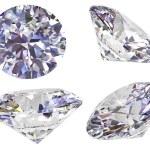 quatre avis de diamant isolé sur blanc — Photo
