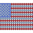 USflag composed of brilliants — Stock Photo #2573837