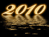 2010 - digits sparkling with reflection — Stock Photo