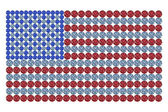 USA flag composed of brilliants — Stock Photo