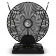 Portable television and radio antenna - Stockfoto