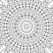 Circular mosaic pattern of diamonds - Stock Photo