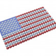 USflag composed of brilliants — Stock Photo #2600348