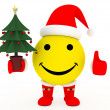 Happy face in Santa's costume — Stock Photo #2613170