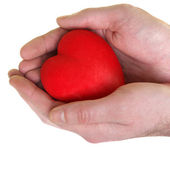 Heart in man's hands — Stock Photo