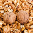 Walnut background — Stock Photo