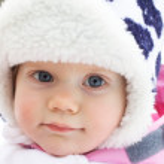 portret uśmiechający się baby girl — Zdjęcie stockowe
