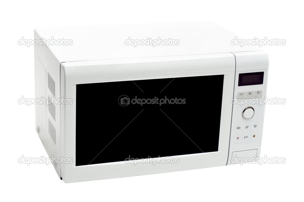 Microwave oven isolated on white — Stock Photo #2059524