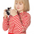Pretty young photographer — Stock Photo