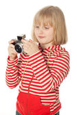Pretty young photographer — Stockfoto