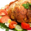 Close-up of roasted chicken - Stock Photo