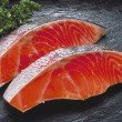Stock Photo: Raw fillet of fresh salmon fish