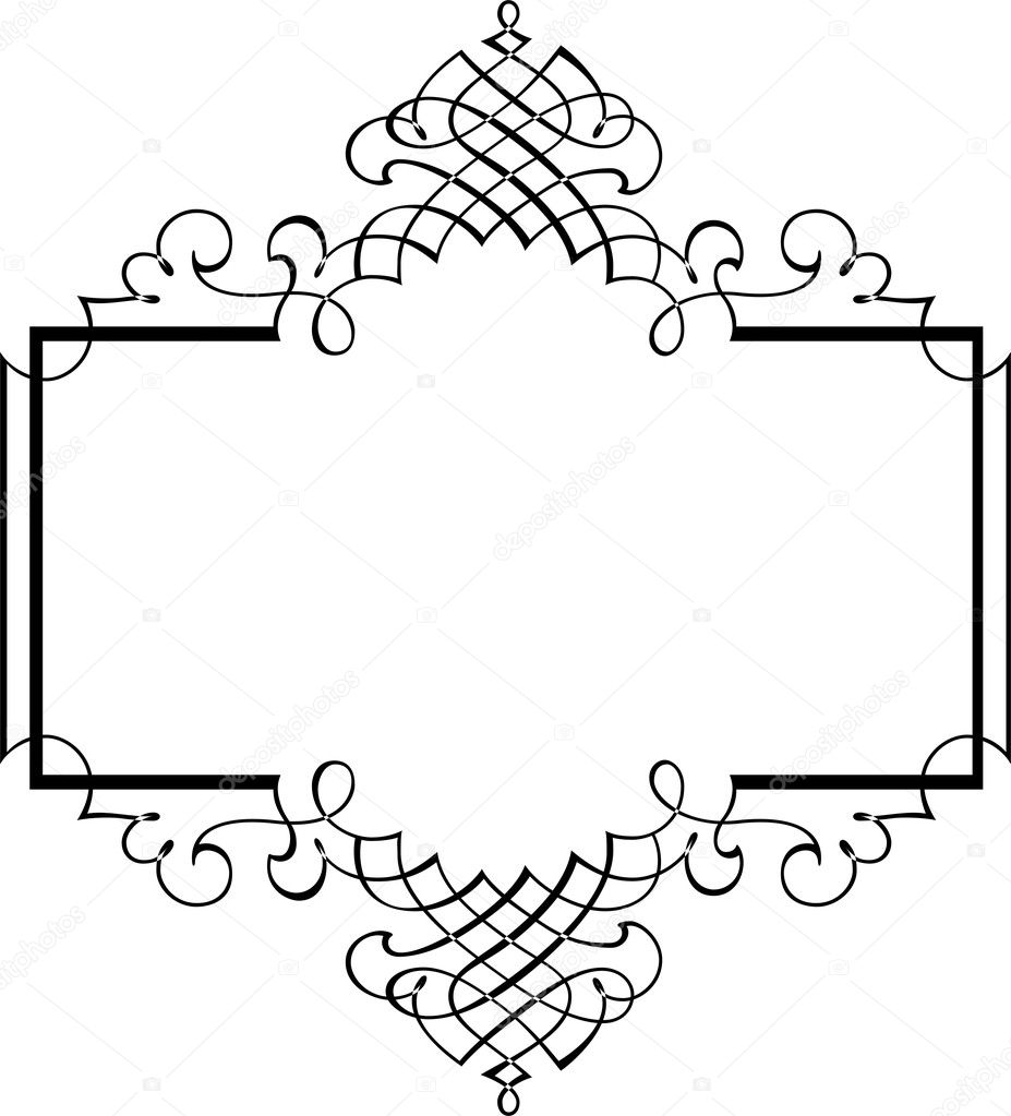 Calligraphic Border Stock Vector Surryia 1498409
