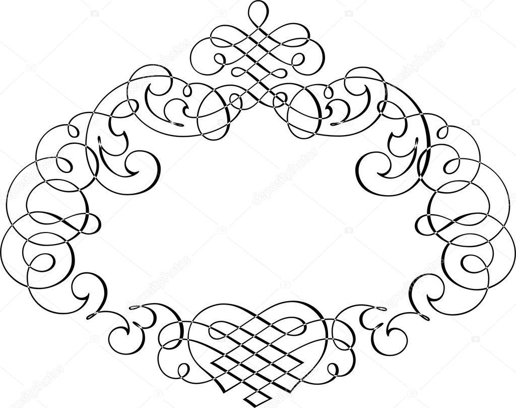 Calligraphic Border Stock Vector Surryia 1498479