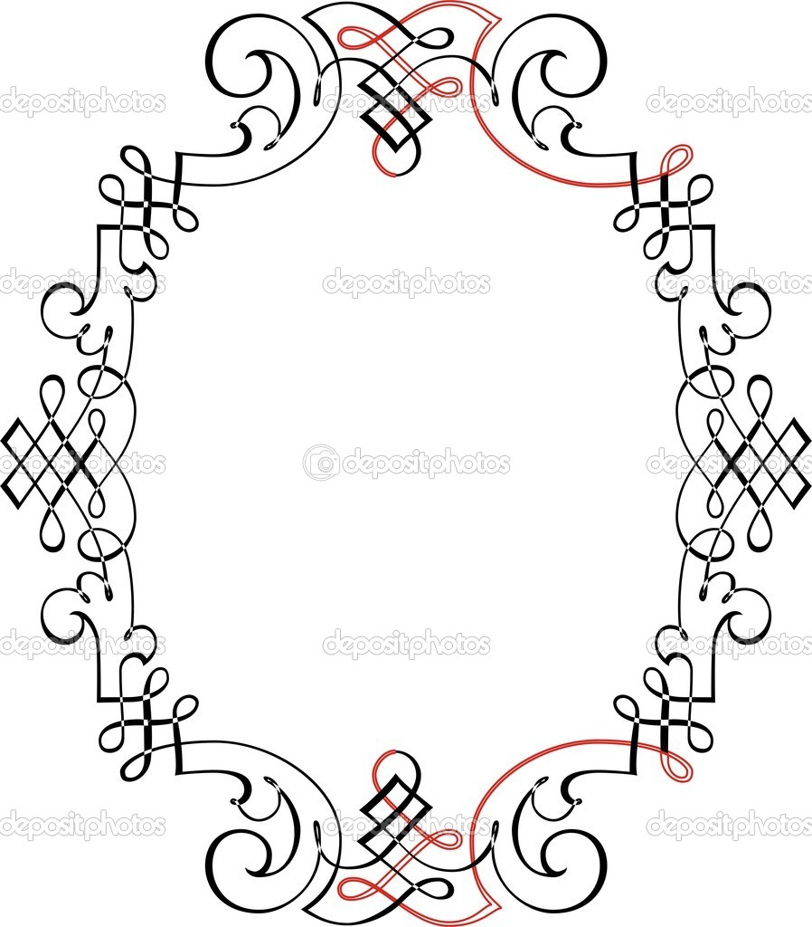 Calligraphic Border Stock Vector Surryia 1498483