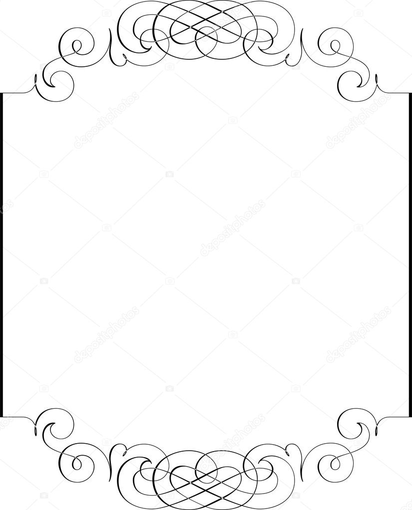 Calligraphic Border Stock Vector Surryia 1498491