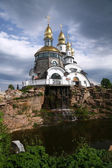 Gold-domed church — Stock fotografie