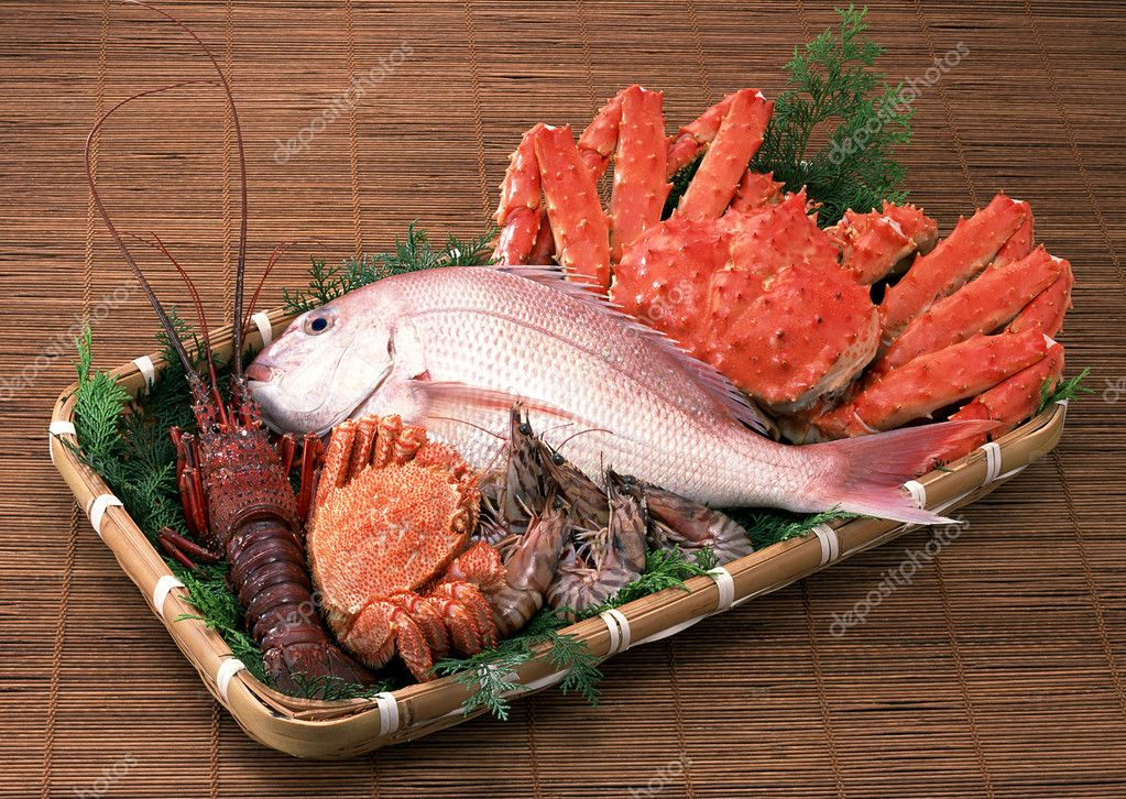 Fresh and healthy fish seafood stock photo umairsohail for Fish and seafood