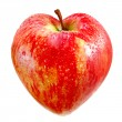 Red apple as a heart — Foto Stock