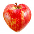 Red apple as a heart — Stockfoto