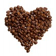 Grains of coffee in the form of heart — Stock Photo