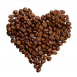 Grains of coffee in the form of heart — Stock Photo #1514286