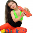 Stock Photo: Girl with musical instrument