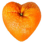 Orange as a heart — Stock Photo