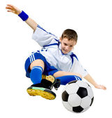 Boy a footballer — Stock Photo
