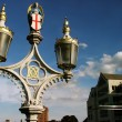 Angel in the lamppost of York-river - Stock Photo
