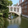 Stock Photo: Punting on Cam from Cambridge