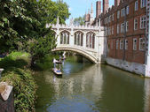 Punting on Cam from Cambridge — Stock Photo