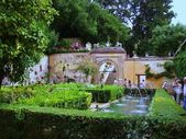 In the garden from Generalife — Stock Photo