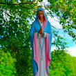 Lithuania. Statue of Virgin  Mary - Stok fotoğraf