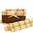 Photo: Basket and mats
