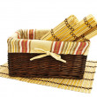 Stock Photo: Basket and mats