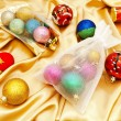 Christmas decorations with sacks — Stock Photo
